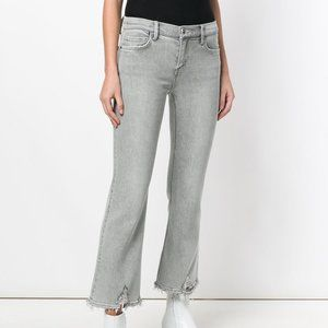 Current/Elliott Distressed Cropped Flare Jeans